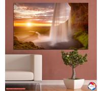 Картина пано Залеза на водопадите №0101 70х45см