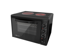 Малка готварска печка Eldom 201VFEN, 3300 W, стъклокерамичен плот, 38 л., черна