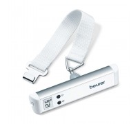 Везна Beurer LS 10, До 50 кг, За багаж, LCD дисплей, Автоматично изключване, Бял