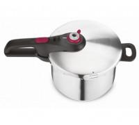 Тенджера Tefal P2530750, 6l обем, 2 програми за готвене, Неръждаема стомана