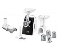 Месомелачка Bosch MFW3X17B, 500W, Приставка за наденица, Приставка за доматен сок, Функция обратно въртене, Бял