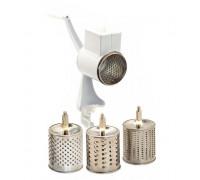 Кухненско ренде zilner zl 3910, 3 приставки, неръждаема стомана, бял