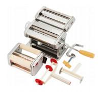 Уред за прясна паста zilner zl 5210, приставки за равиоли, спагети, фетучини, лазаня, талиатели, ино...