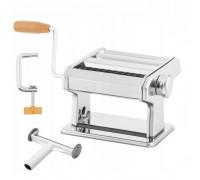 Уред за прясна паста zilner zl 5216, приставки за спагети, фетучини, лазаня, талиатели, инокс
