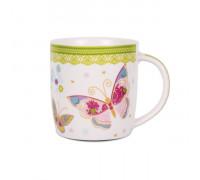 Чаша за чай и мляко 350ml, пеперуди
