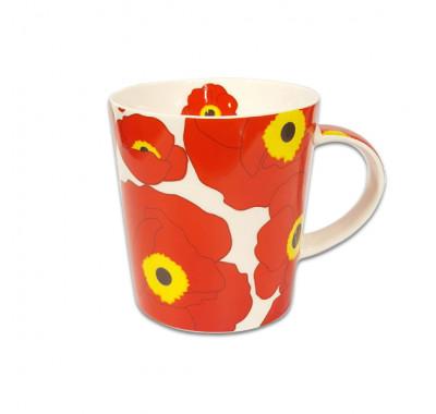 Чаша за чай и мляко Jameson + Taylor Flower Red 300ml