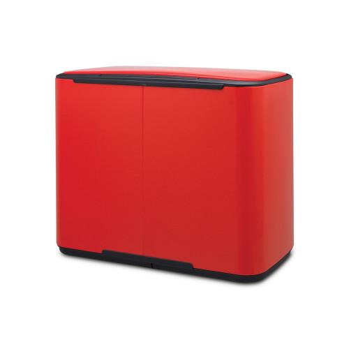 Кош за смет Brabantia Bo Pedal 3x11L, Passion Red