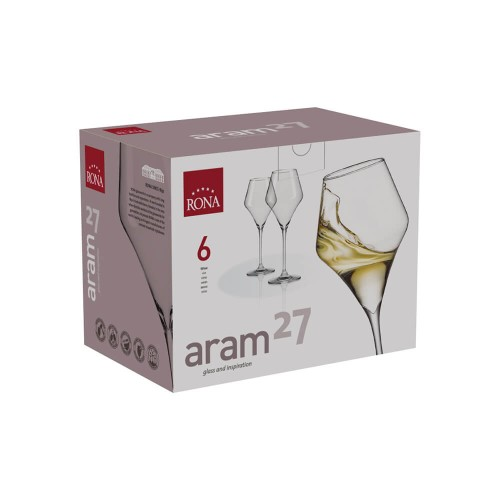 Чаша за вино Rona Aram 6508 380ml, 6 броя