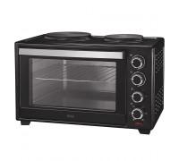 Печка готварска малка Muhler MN-4809, 1600W, Черна, Вентилатор с мощност 10W, Обем 48L