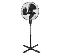 "Вентилатор на стойка 16"" Muhler FM-5080 черно-черно, Плетена решетка (1.4 мм), 3 PP перки - 105..."