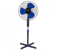 Вентилатор на стойка Perfect FM-3237 Черно - Синьо, Тих мотор 40W, Осцилация на 90 градуса,  30 градуса корекция на ъгъла на духане