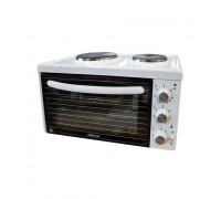 Малка готварска печка DIPLOMAT NP -2832W, 2650 W, Емайлирана отвътре, Двойно фиксирано стъкло