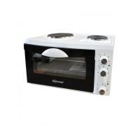 Малка готварска печка DIPLOMAT NP-3332W, Терморегулатор (0-250 ° C), 2700W, 33 литра, Емайлирана отвътре