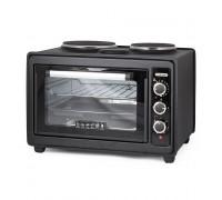 Печка готварска малка TERMOMAX TC33BK, 2300W, Двойно стъкло на вратата, 2 котлона, черен