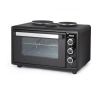 Печка готварска малка TERMOMAX TC50BK,  2500W, 2 котлона, Решетка от неръждаема стомана, Черен