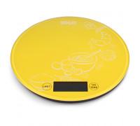 Везна кухненска Muhler KSC-2026R yellow, Капацитет: 5kg, Функция тара, Изработена от закалено стъкло