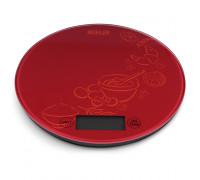 Везна кухненска Muhler KSC-2026R red, Капацитет: 5kg, Градуиране: 1g, Функция тара