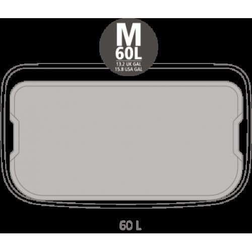 Кош за смет Brabantia Bo Pedal 60L, Matt Steel Fingerprint Proof
