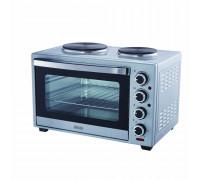 Печка готварска малка Muhler MN-6019S, 1600 W,  Обем 60 L, 2 котлона, Вентилатор, Сребриста