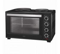 Печка готварска малка Muhler MN-4809 N чернa, 1600W, Вентилатор, 2 котлона, Открити нагреватели