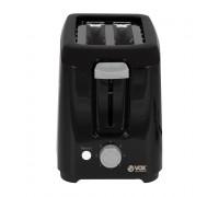 Тостер VOX TO01102, 750W, 7 степени на печене, Бутон за прекъсване на печенето, Черен