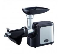 Месомелачка електрическа Muhler MG-603S N, 600W, С приставка за домати, Тавичка за продукти, бутало, Черен