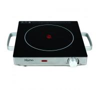 Котлон Керамичен HOMA HP-1500CSI, 2000 W, Тяло от неръждаема стомана, Термостат, Бързо и ефикасно загряване