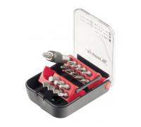 К-т битове, магнитен адаптер, 18 части, в пластмасова кутия MTX MASTER 113169
