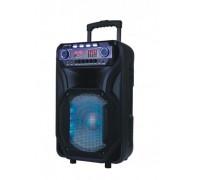 Преносим високоговорител Elekom ЕК-1305, 400 W, 2 Безжични микрофона, FM радио, Bluetooth, LED освет...