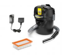 Смукачка за пепел и прах Karcher AD 2 Battery Set (13483010), Литиево-йонна батерия, 14L контейнер и...