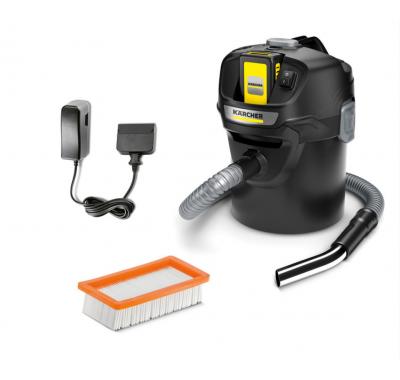 Смукачка за пепел и прах Karcher AD 2 Battery Set (13483010), Литиево-йонна батерия, 14L контейнер и 230W мощност