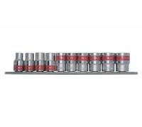 """К-т вложки, 3/8"""", 6-стенни, 10 бр., 8-19 mm MTX 135589"""