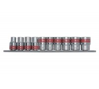 """К-т вложки, 1/4"""", 6-стенни, 10 бр., 4-13 mm MTX 135599"""