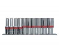 """К-т вложки удължени, 1/2"""", 6-стенни, 10 бр., 10-22 mm MTX 135909"""