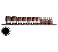"""К-т вложки, 1/4"""", 12-стенни, 10 бр., 4-13 mm MTX 135949"""