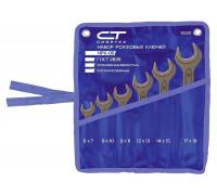 Комплект ключове гаечни, 6-24 mm, 8 бр., фосфатирани, ГОСТ 2839 СИБРТЕХ 15222
