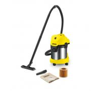 Многофункционална смукачка Karcher WD 3 Premium (16298630), 1000 W, За мокро и сухо почистване, Контейнер 17 литра, 4 м кабел