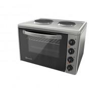 Готварска печка Eldom 203VFB, 3100 W, чугунени плочи, 38 л., инокс