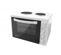 Готварска печка Eldom 203VFE, 3100 W, чугунени плочи, 38 л., бяла