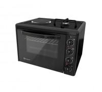 Комбинирана готварска печка ток и газ Eldom 213VFEN, 3100 W/1750 W, чугуненa плочa, 38 л., черна