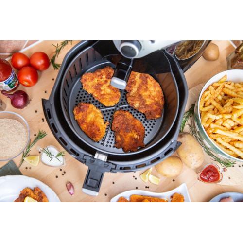 Фритюрник Air Fryer с горещ въздух Rohnson R-2826, Обем на кошницата 5,5 л., 1700W, Таймер, Лесно измиване