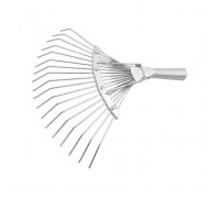 """Гребло за листа тип """"ветрило"""", 18 зъба, без дръжка, поцинковано, кръгли зъби// СИБРТЕХ Рус..."""