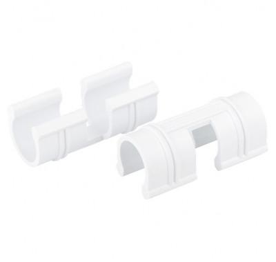 Скоба за закрепване на фолио към дъги на парник, D 12 mm, бяла, 20 бр.// PALISAD 64427
