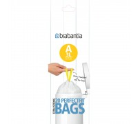 Торба за кош Brabantia PerfectFit Sort&Go/Touch размер A, 3L, 20 броя, ролка