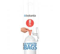 Торба за кош Brabantia PerfectFit Slide/Paper Bin размер B, 5L, 20 броя, ролка