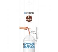 Торба за кош Brabantia PerfectFit FlatBack+/Touch размер L, 40-45L, 10 броя, ролка