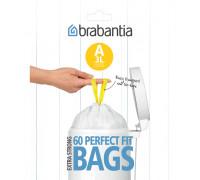 Торба за кош Brabantia PerfectFit Sort&Go/Touch размер A, 3L, 60 броя, пакет