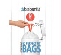 Торба за кош Brabantia PerfectFit Slide/Paper Bin размер B, 5L, 60 броя, пакет