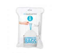 Торба за кош Brabantia PerfectFit, размер E, 20L, 40 броя, пакет