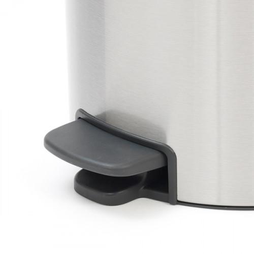 Кош за смет с педал Brabantia NewIcon 30L, Matt Steel Fingerprint Proof